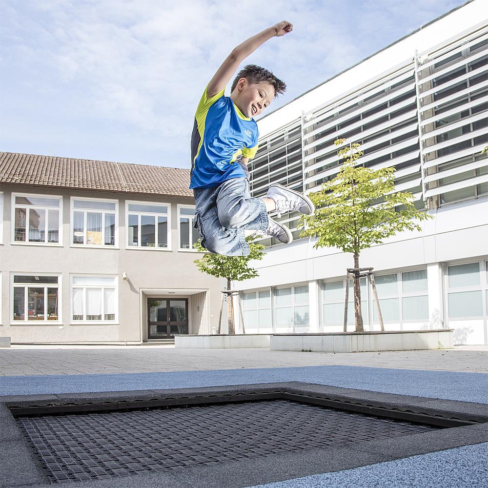 Bodentrampolin Kids Tramp Playground 200x200 cm