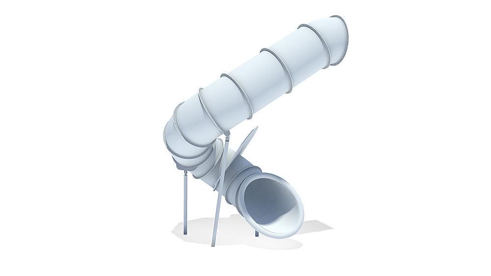 Röhrenanbaurutsche 270 Grad, rechts gewendelt, PH 295 cm