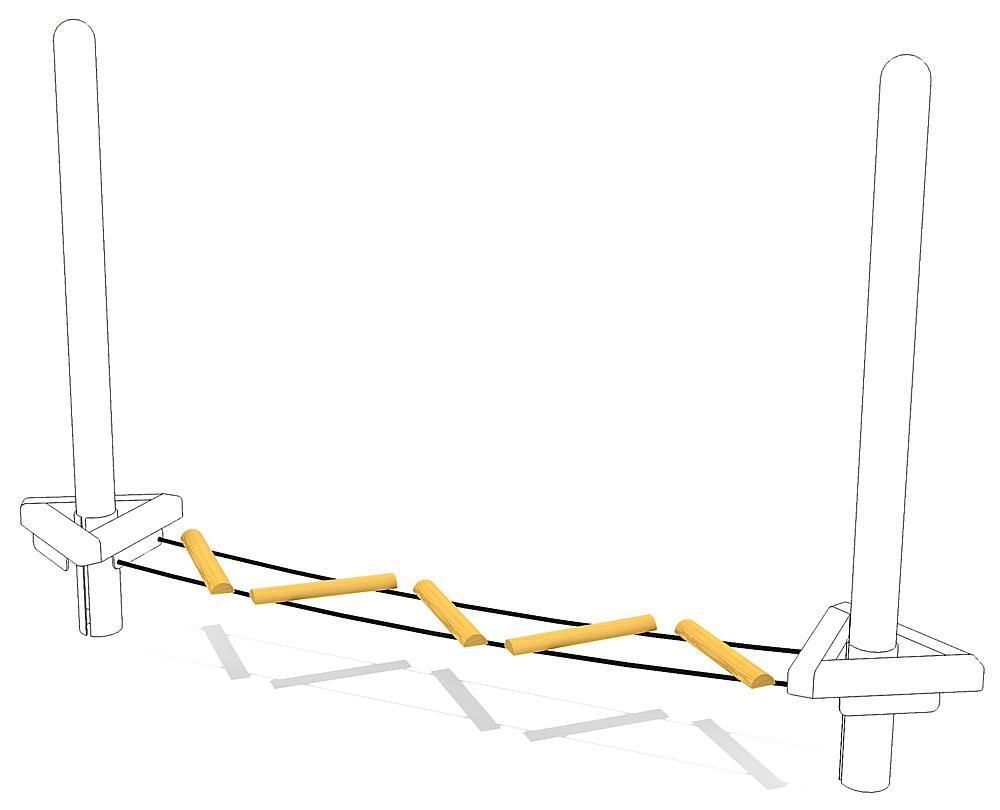 Zick-Zackbrücke Übergang L3