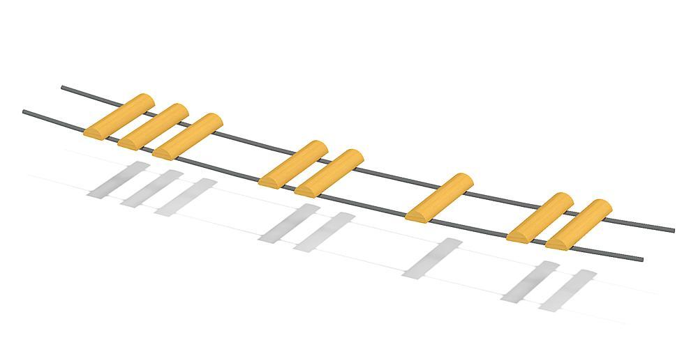 Hängebrücke Übergang M2
