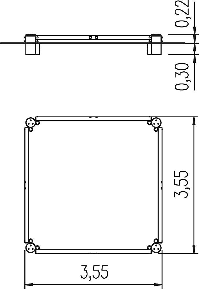 Palisadensandkasten Quadrat 360 cm