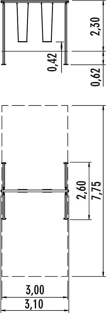 Doppelschaukel Luna mit Schaukelsitzen und 360° Schaukelgelenk