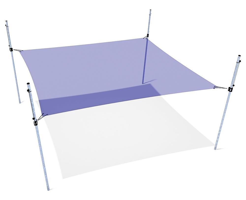 Schattensegel höhenverstellbar 4x4 m