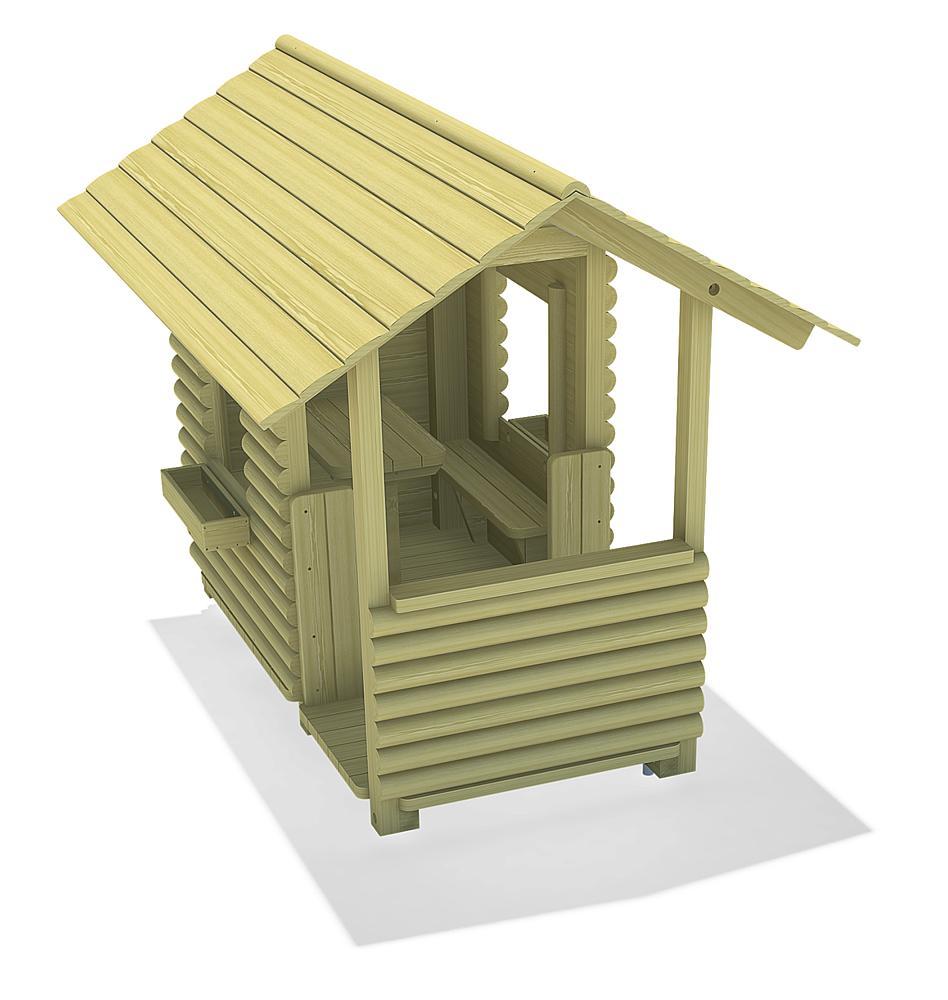 Blockhaus mit Veranda