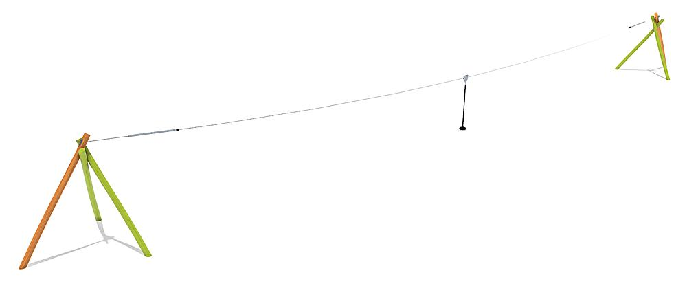Seilbahn Bardo für Hügelverbau 30 m