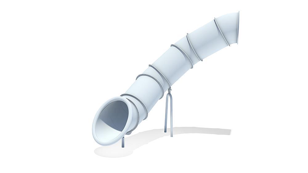 Röhrenanbaurutsche 80 Grad, links gewendelt, PH 245 cm