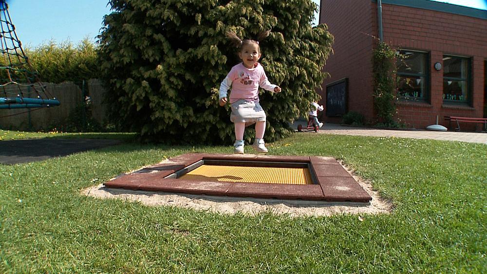 Bodentrampolin Kids Tramp Kindergarten 150x150 cm