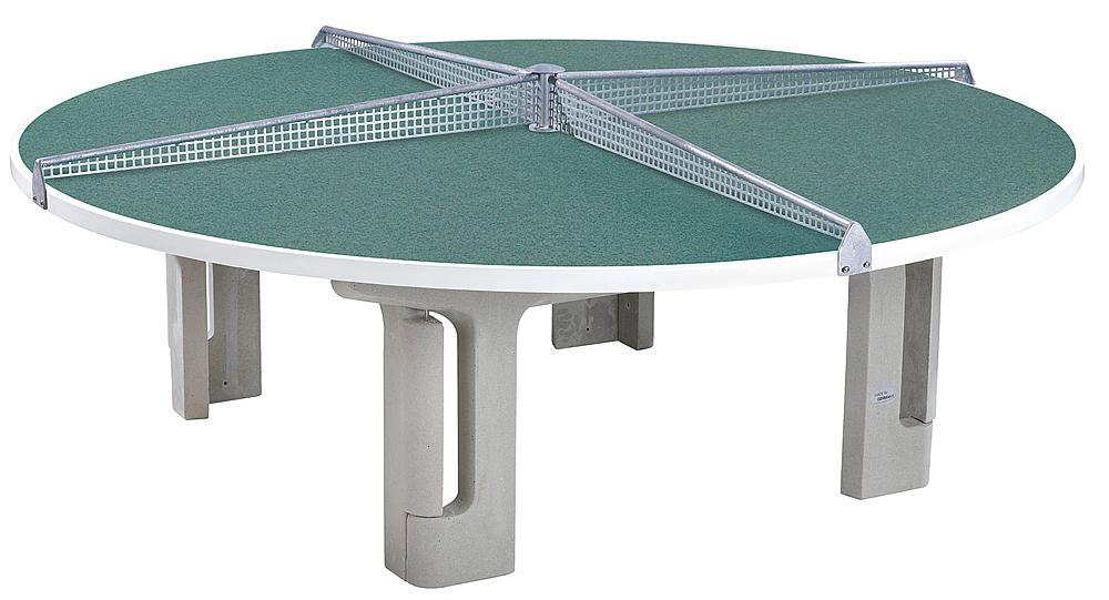 Tischtennisanlage rund