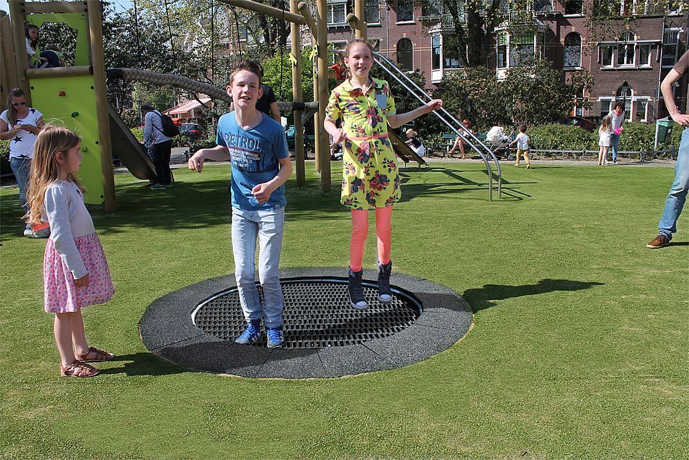 Bodentrampolin Jump rund Ø 170 cm