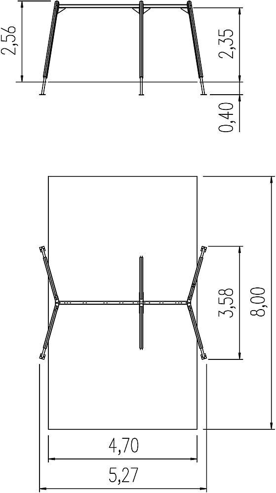 Dreifachschaukelgestell Kondor