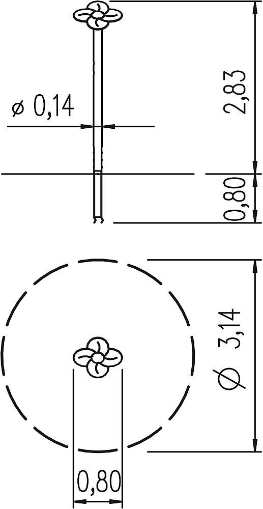 Säule Blume