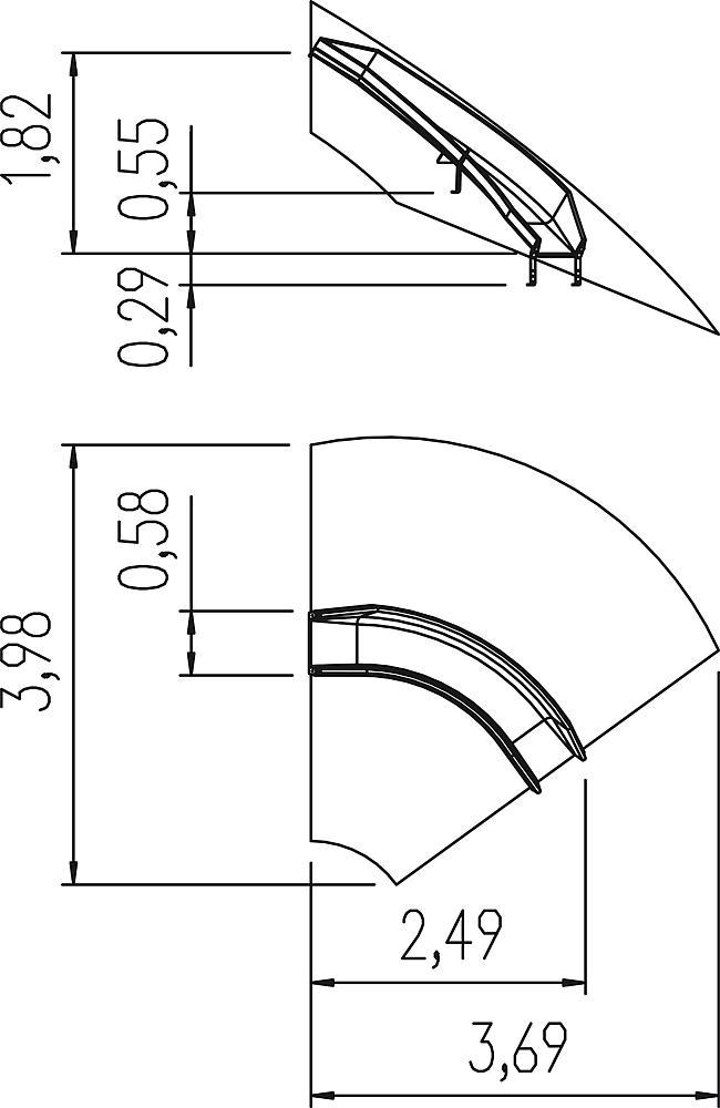 Hangrutsche Kurve rechts