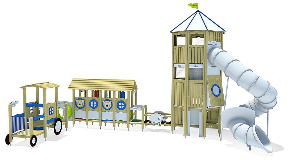 Indoorspielanlage Bauernhof