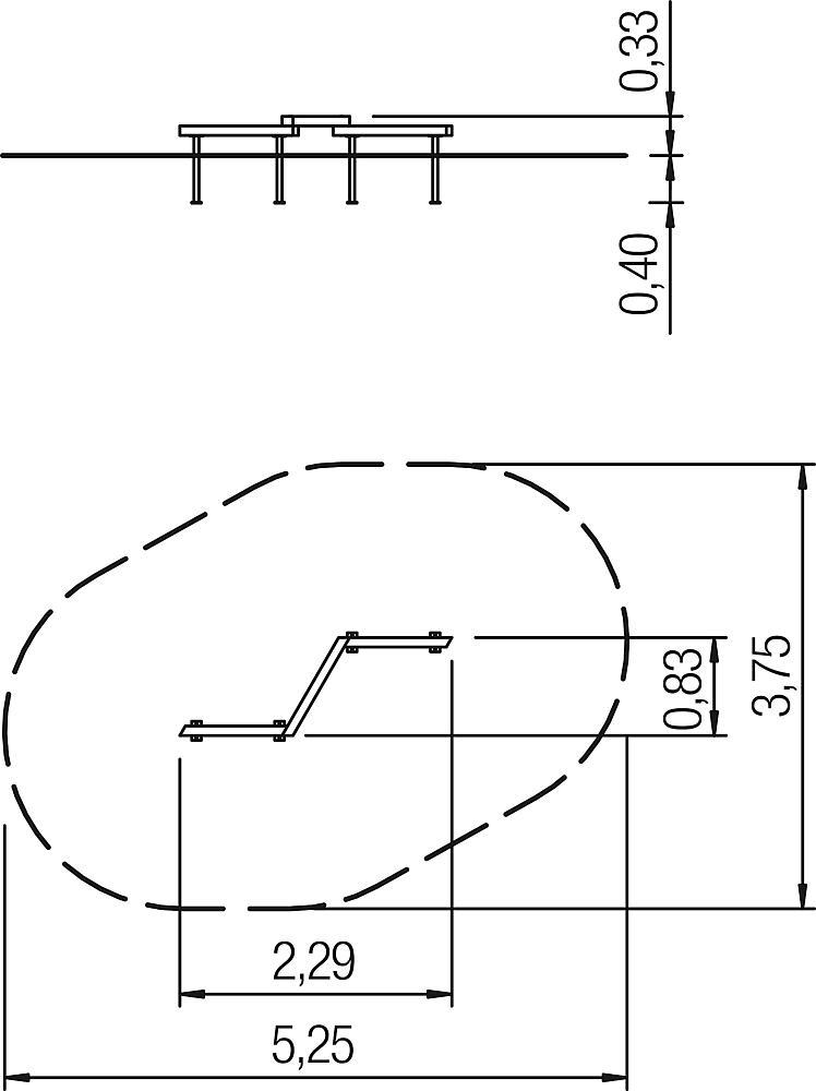 Zick-Zackbalken Übergang L2